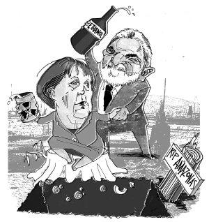 Lula y Merkel